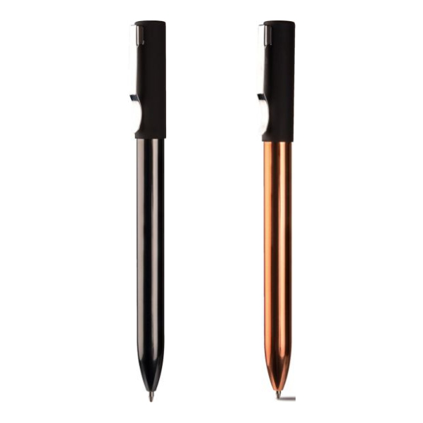 Penna in ,metallo e gomma soft touch 174